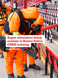 Argon simulators brought realism to Bristol Police CBRN training