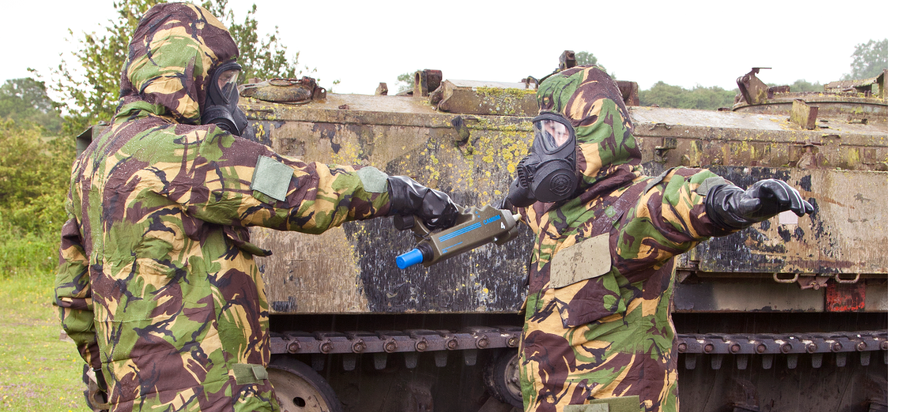 testing for chemical warfare agent contamination