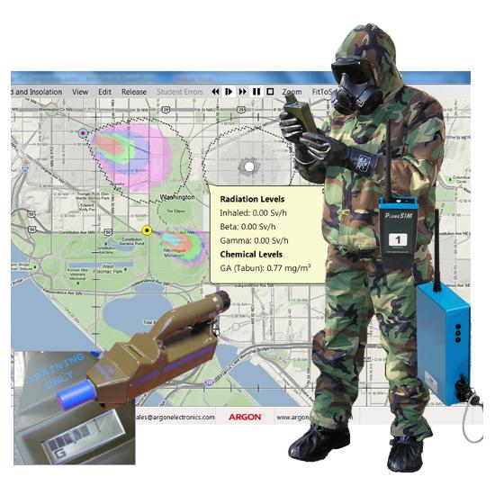 PlumeSIM Field Exercise mode CBRNe HazMat training