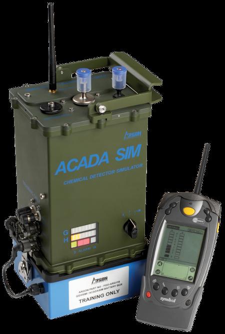 ACADA-SIM chemical hazard detection simulator