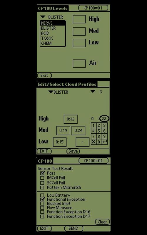 ChemPro chemical hazard simulator screenshots
