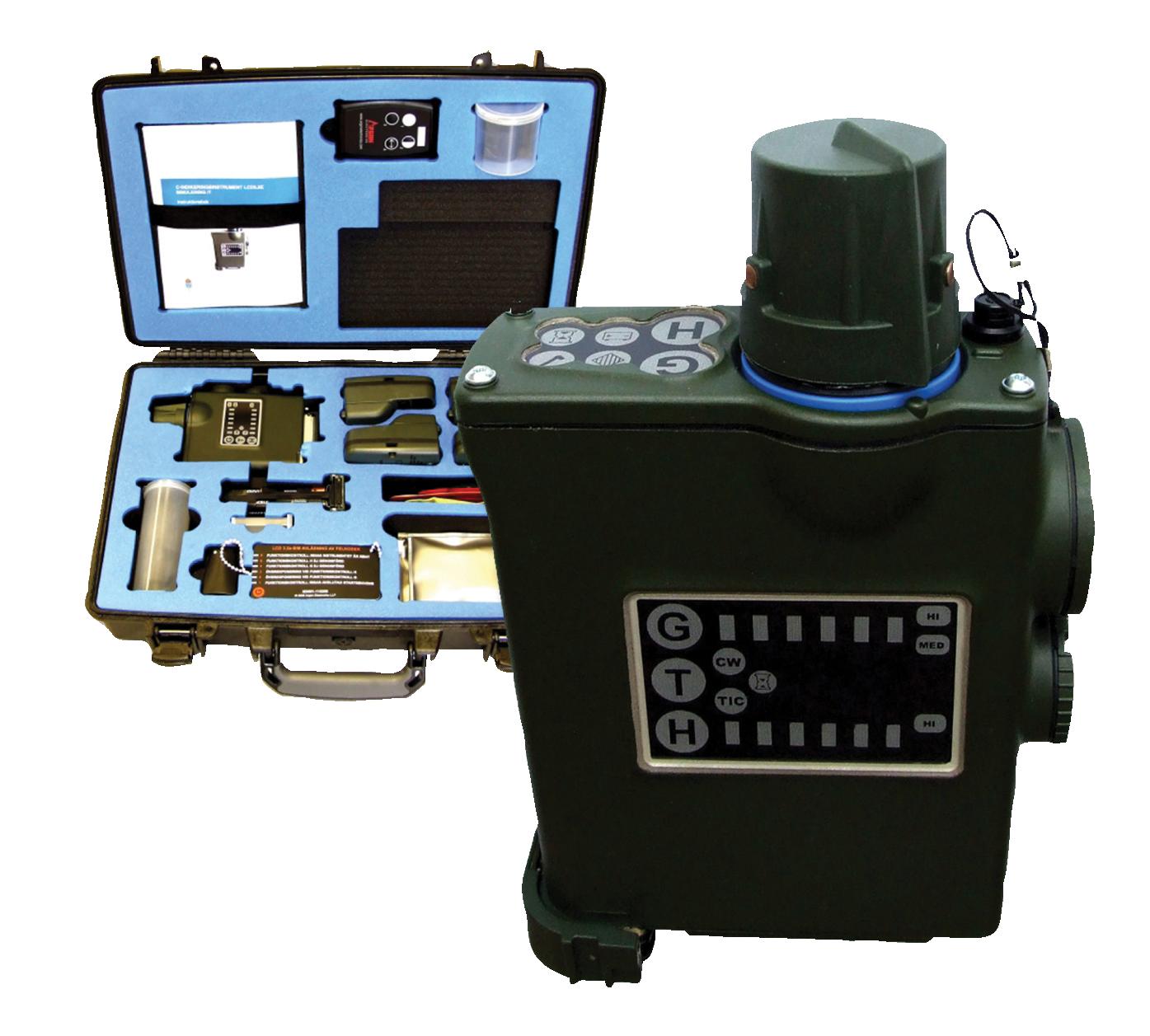 JCAD-M4 chemical hazard detection simulator