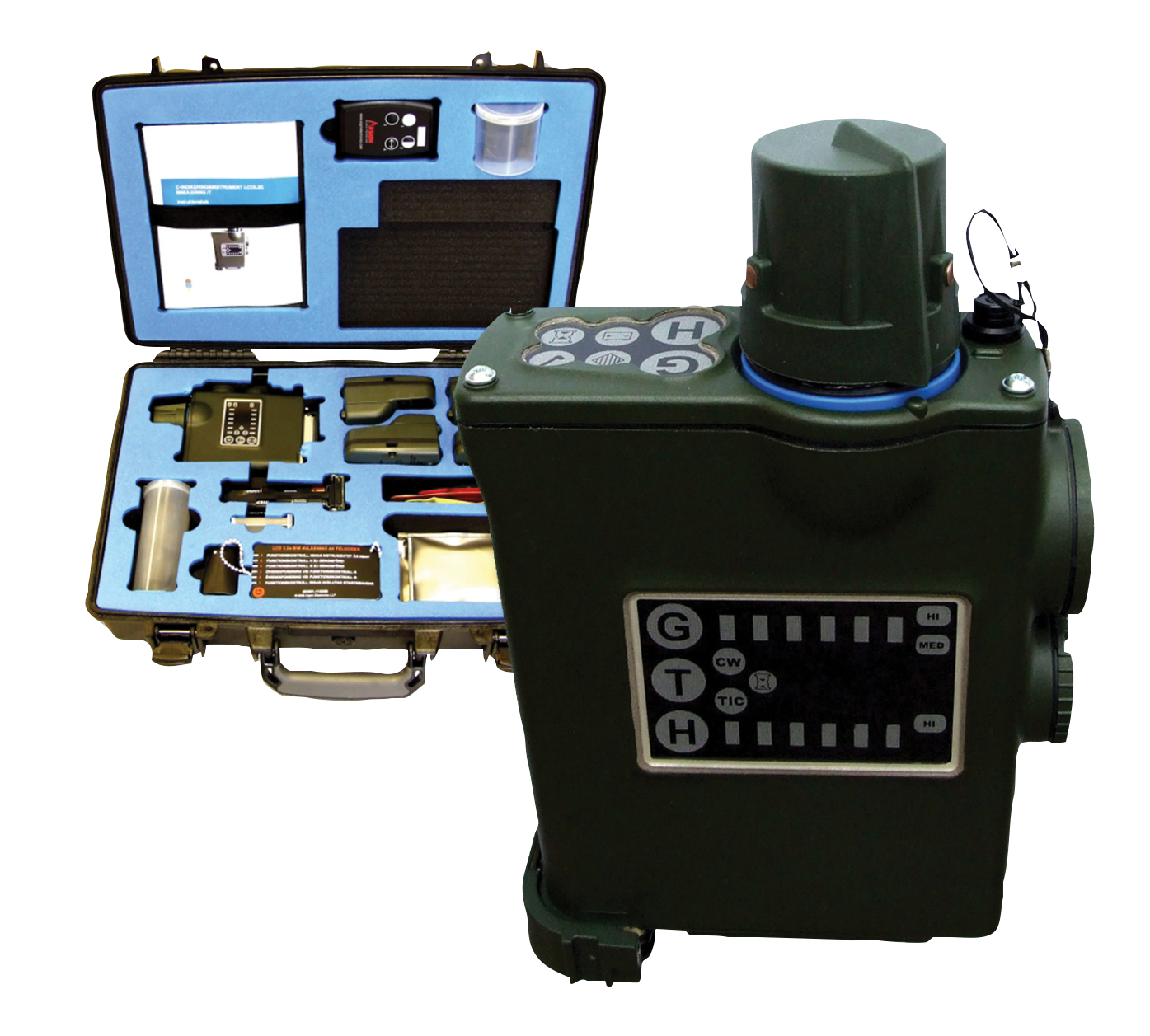 JCAD-M4 chemical hazard detection simulator