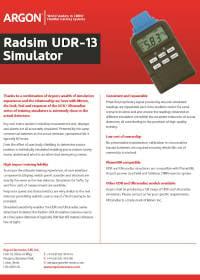 UDR 13 Product Sheet