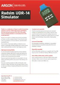 UDR 14 Product Sheet