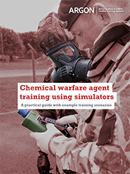 Chemical warfare agent training using simulators