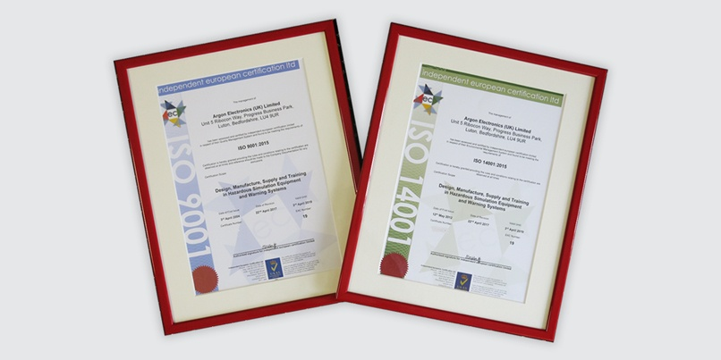 Argon granted ISO 9001:2015 and 14001:2015