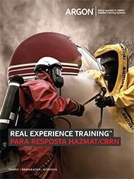 Real experience training™ para resposta HazMat/CBRN