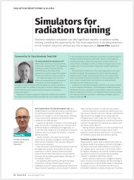 Simulators for radiation training