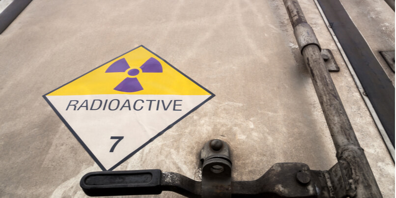 What are the safety risks when transporting radioactive materials?