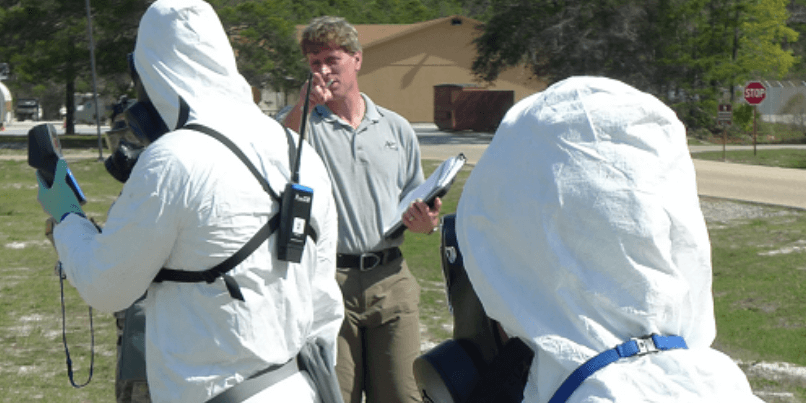 What are the core requirements of wide area CBRNe training?