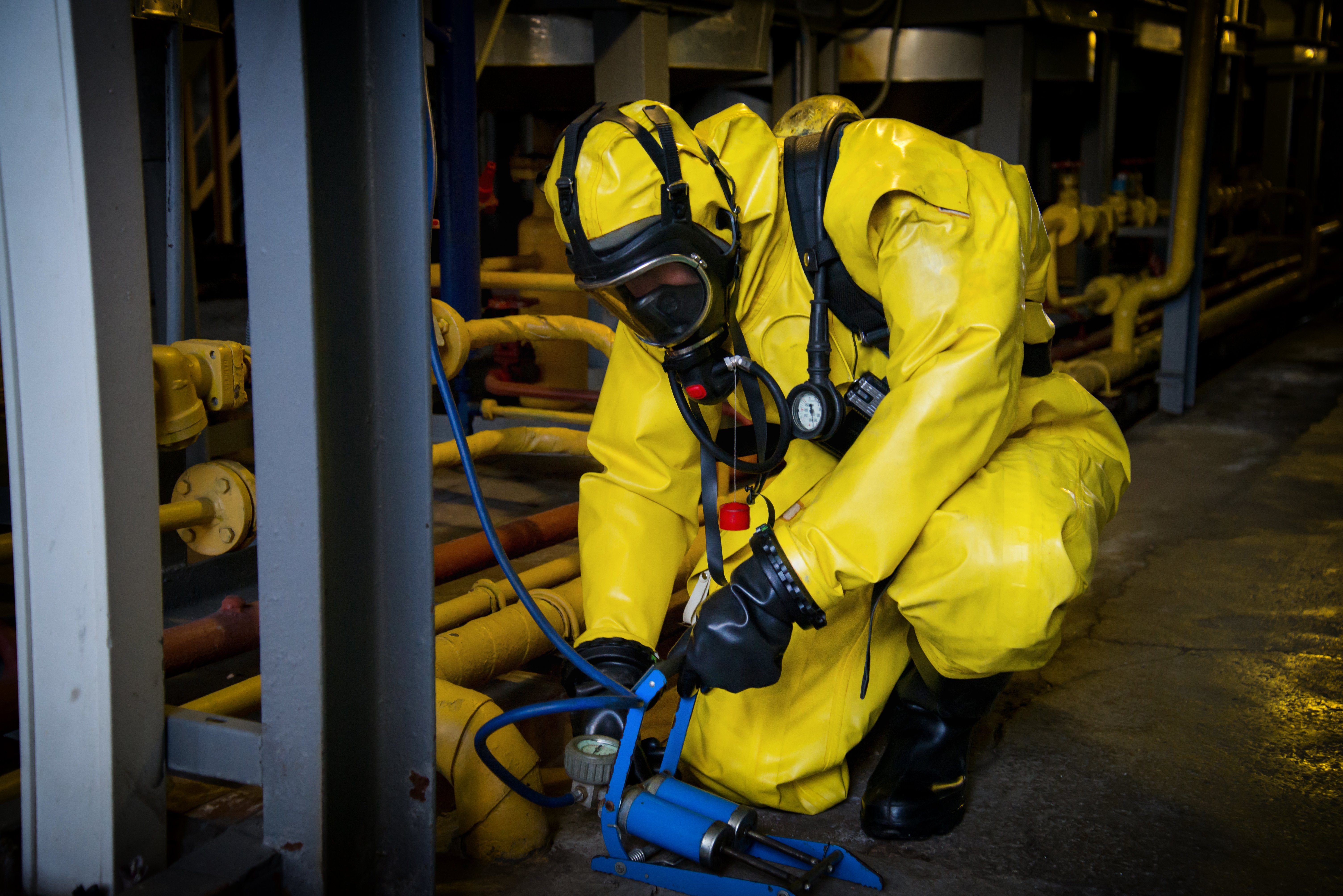 How can a wide-area instrumented system boost radiation hazard training?